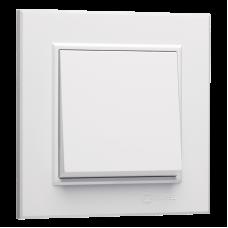 Выключатель Макел, серии Karea, одноклавишный, белый